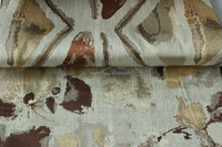 Jacquard Brocade fabric / Metallic brocade curtain fabric MZJ351-1-3-6