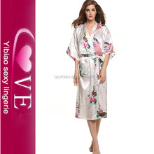 satin long pajama ladies sleeping night gown for women