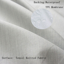 Breathable Waterproof Tencel Knitted Laminated Fabric for Mattress Protector