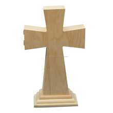 Polished stand wood cross for sale