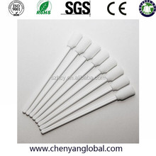 100 pcs White Handle High density Sponge Cleanroom Larger Foam head Cleaning Swabs Sticks