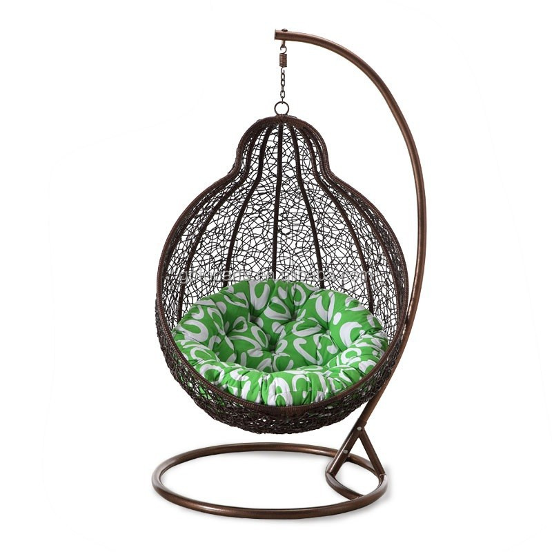Hanging basket 2015 hotsale egg shaped swing chair for for T shaped swing set