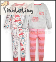 lovely and cute girls cotton sleepwear children's clothing sets baby pajama sets