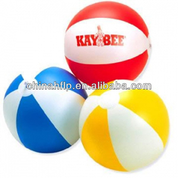 Customized promotional pvc plastic inflatable beach ball