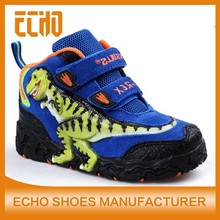 3D dinosaur light up kids casual shoes, boys high top leather shoes for boys T-rex leather shoes