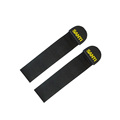 Wholesale black plastic webbing rubber zipper puller, zipper slider