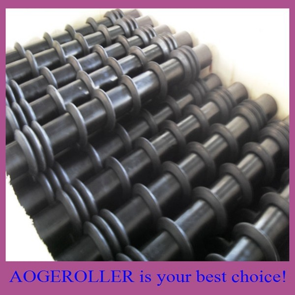 idler roller with rubber ring