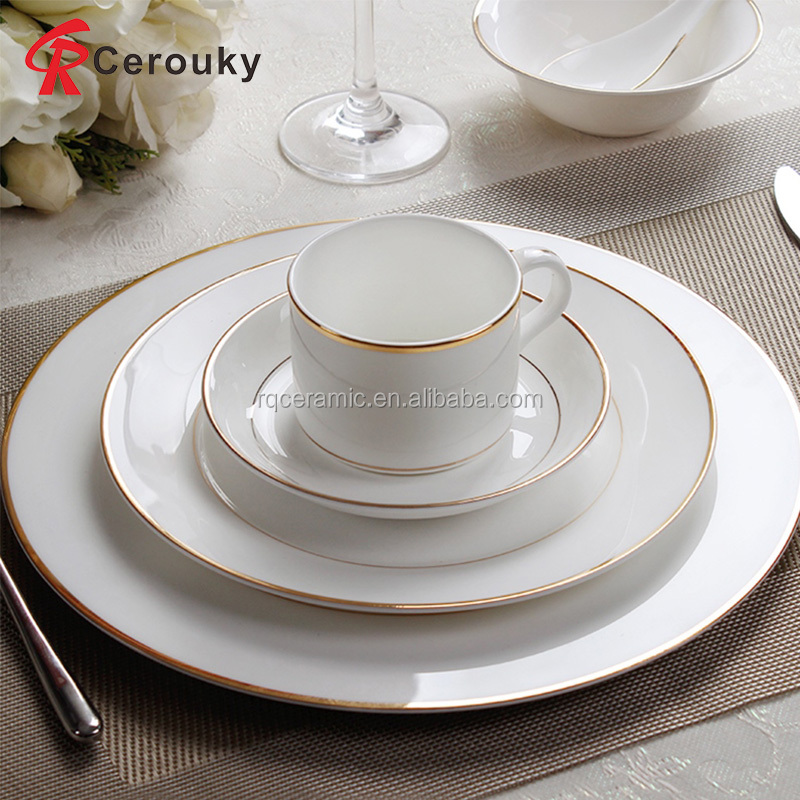 hot sale royal cheap pure white round ceramic dinner plate. Black Bedroom Furniture Sets. Home Design Ideas