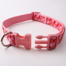 10% discount factory directly selling double-deck pink weave peted dog training collar