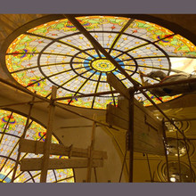 laminated stained glass for ceiling dome skylight roof