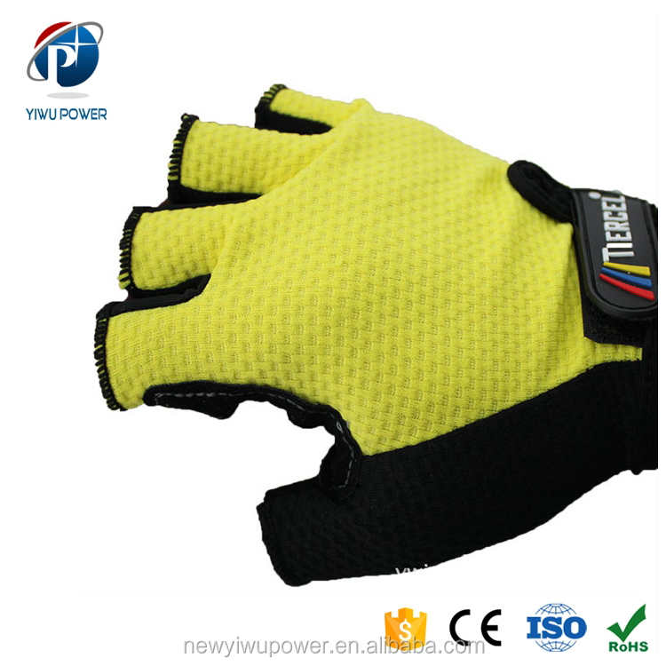 YP-SG-0031 Wholesale Half Finger Cotton Cloth Bicycle Gloves