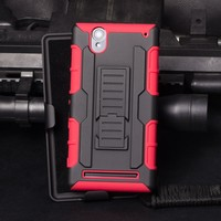 2015 Best Selling !New fashion Shock Resistant Rugged Armor Mobile Phone Cover Cases For Sony Xperia T2 ULTRA/XM50H/D5303/D5306
