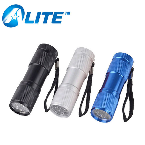 Aluminum 9 LED Torch Light Manufacturer LED Torch Light