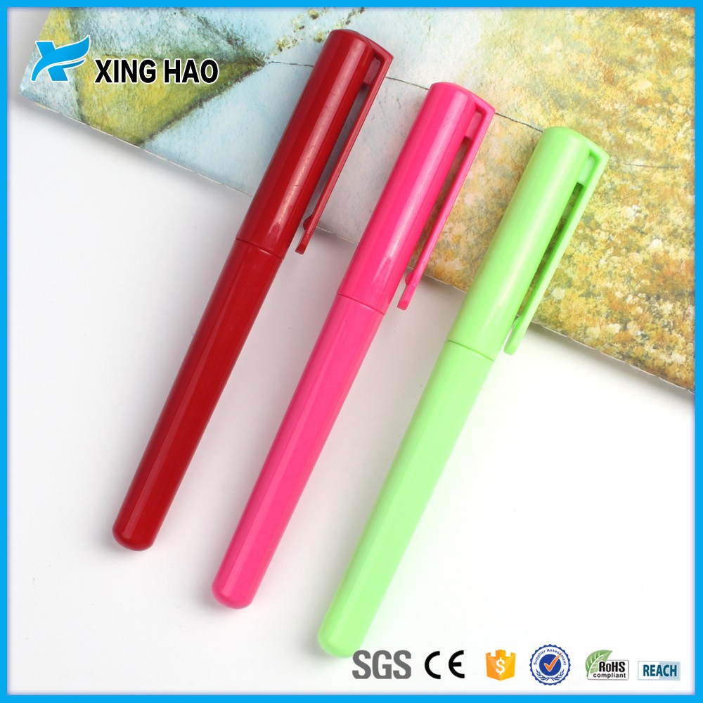 Xinghao simple gel ink pen plastic fountain pen for school and office