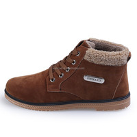 2015 Creative whole sale stylish suede boots lace-up mid-cut shoes for men