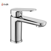 Single Hole Brass Basin Mixer Water