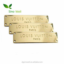 Custom fashion decorative metal plate brand logos 3d nameplate
