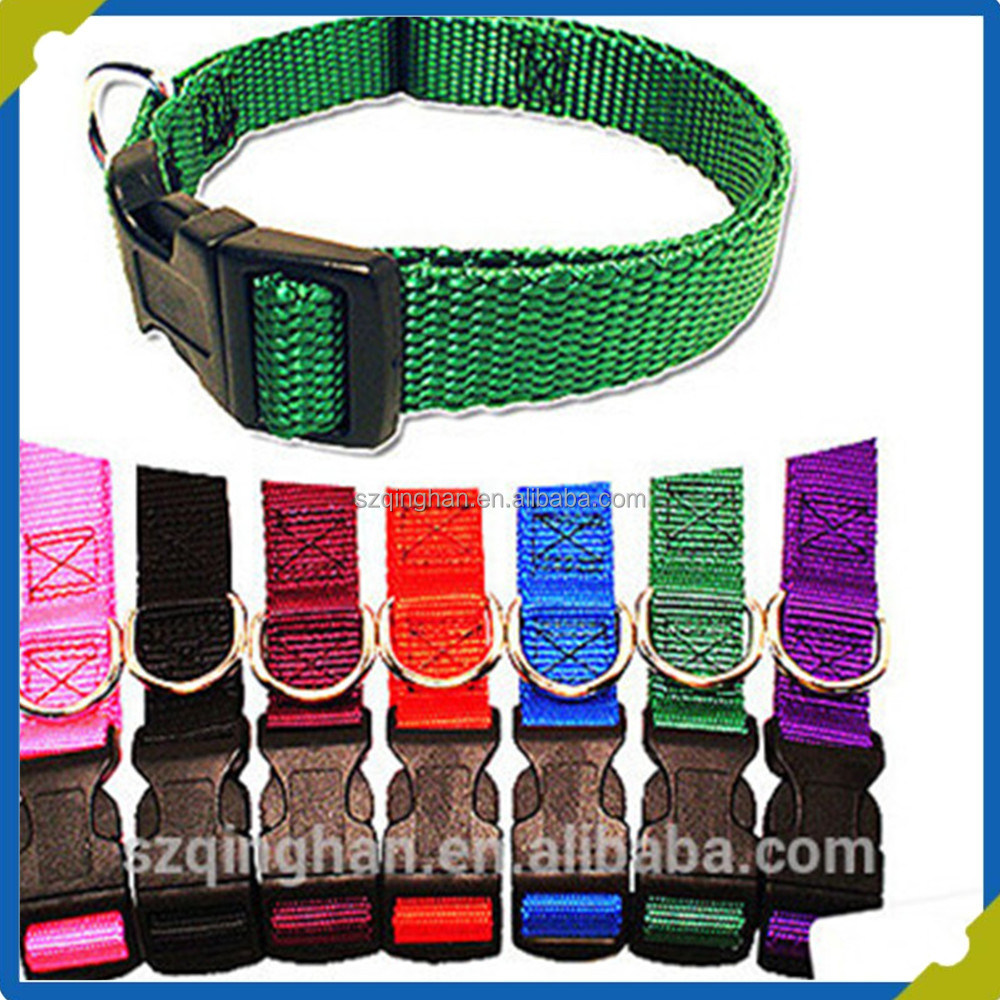 PU nylon coated puppy pet collar dog collars for animal products