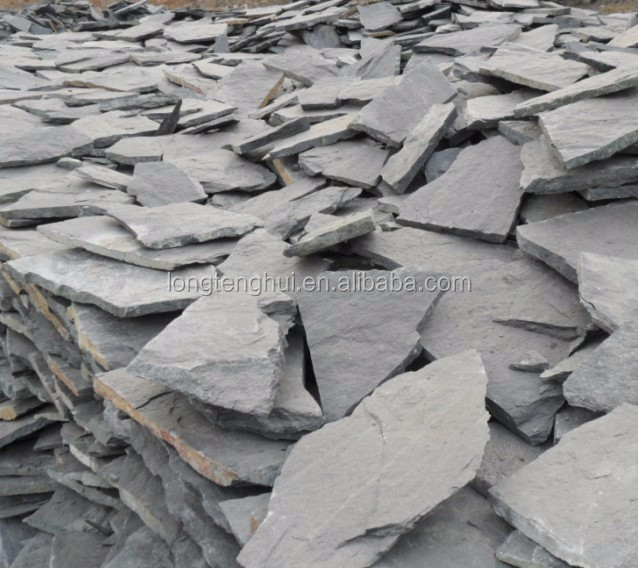 China Natural grey slate and stone in irregular shape