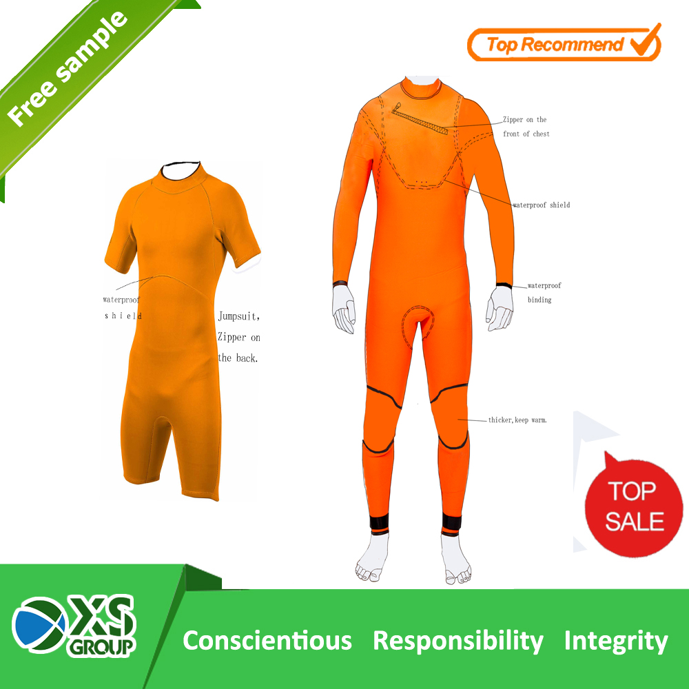 OEM and ODM orange neoprene surf wetsuits