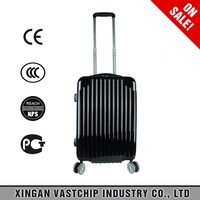 Light weight durable abs pc zipper frame luggage trolley suitcase