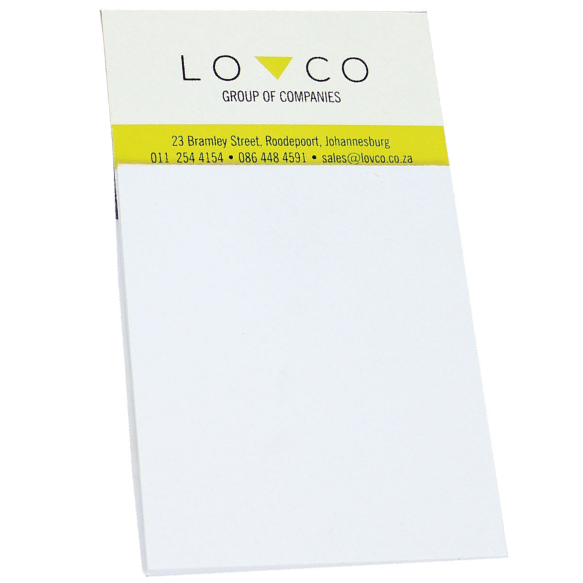 Business card magnet and notepad