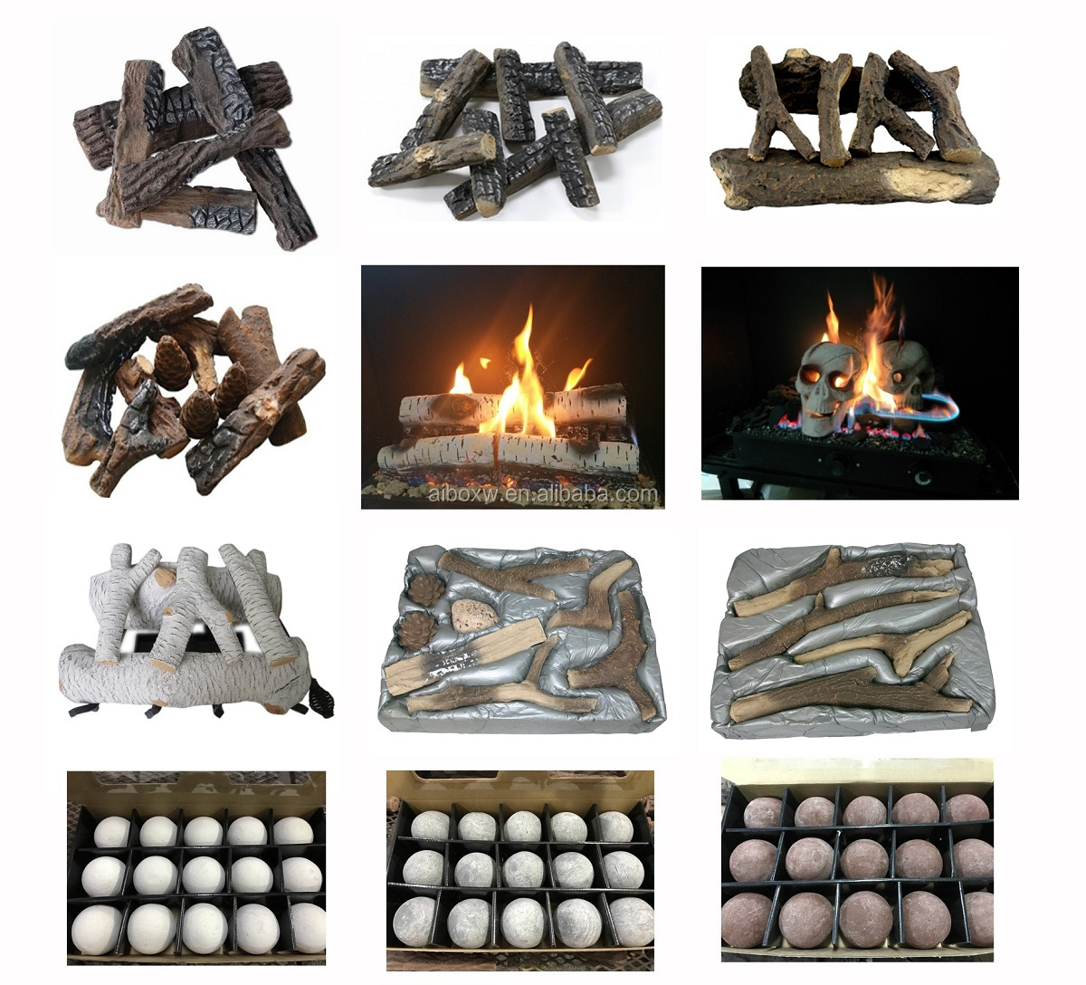 Fake Wood For Ethanol and Gas Fireplace Firewood