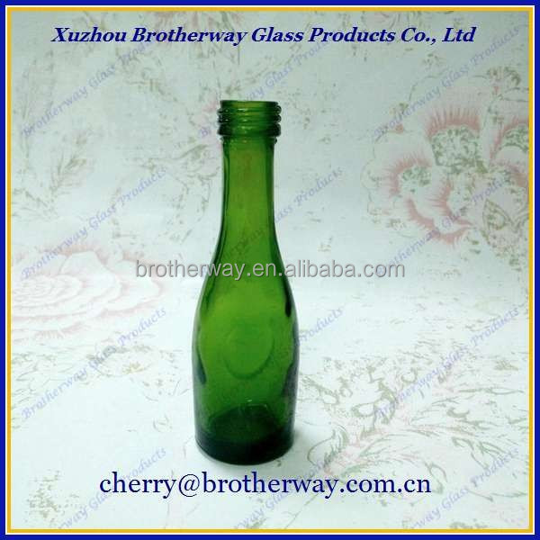 green 50ml mini alcohol glass bottle for wine