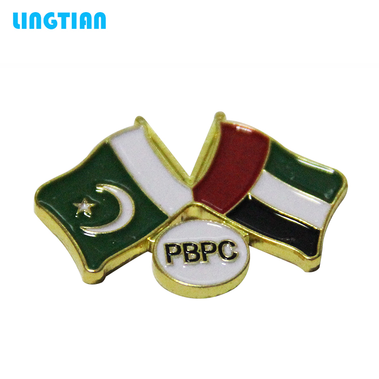 Custom Metal Pakistan Flag Pin Badge
