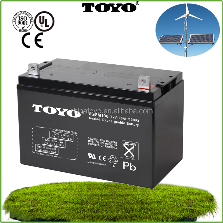 Deep cycle maintenance free long life valve regulated SMF VRLA UPS High rate 12V100AH sealed lead acid battery