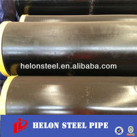 Welded black steel pipe price and dimension for gas