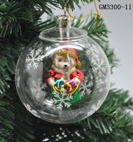 exquisite design and lovely clear christmas glass balls wholesale