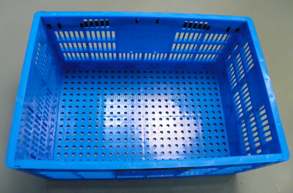 Plastic Mesh Folding Turnover Shipping Crate