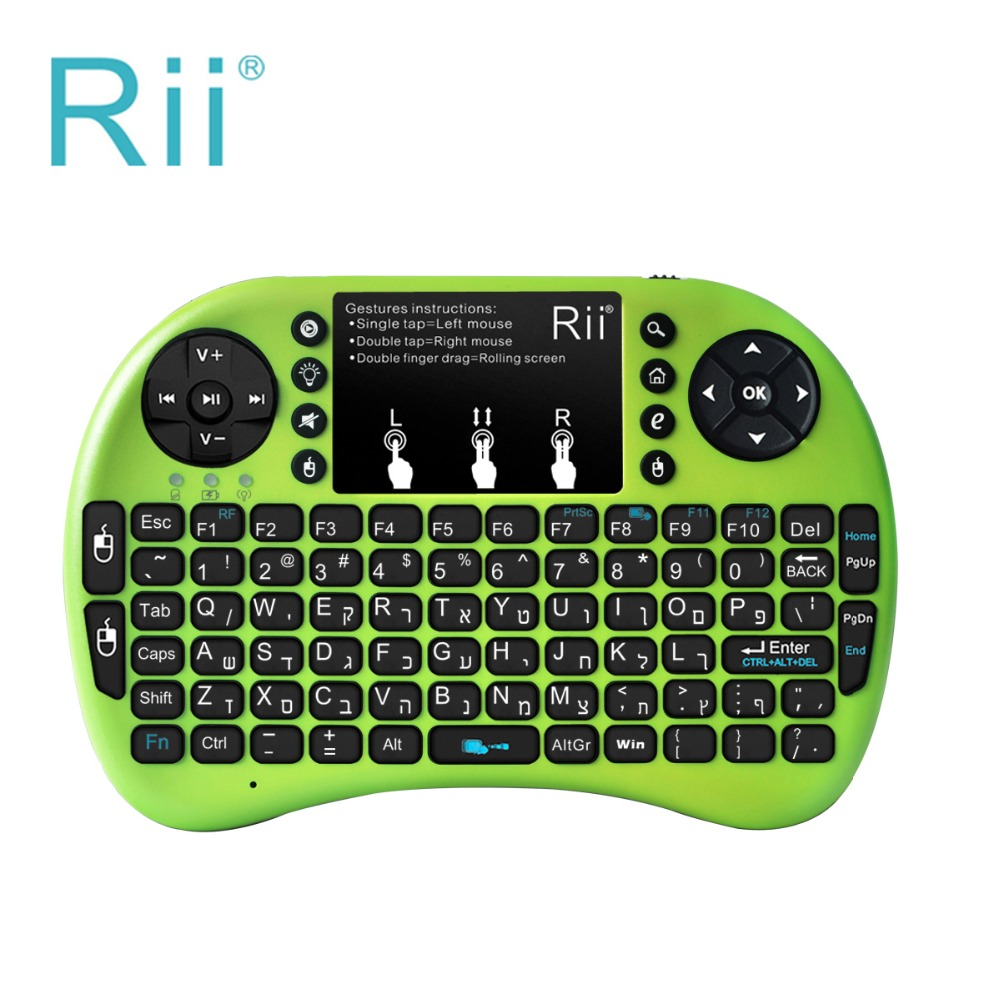 Rii Mini Wireless Keyboard Air Mouse Keyboards 2.4G Handheld Touchpad gaming keyboard for smart tv box android box