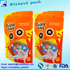 New design 2016 resealable food grade plastic bags snack packaging stand up pouch