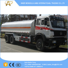 Available 290hp BeiBen 6x6 fuel truck for sale
