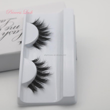 Lovely real mink 3d eyelashes faux mink lashes private label with clear brand wholesale
