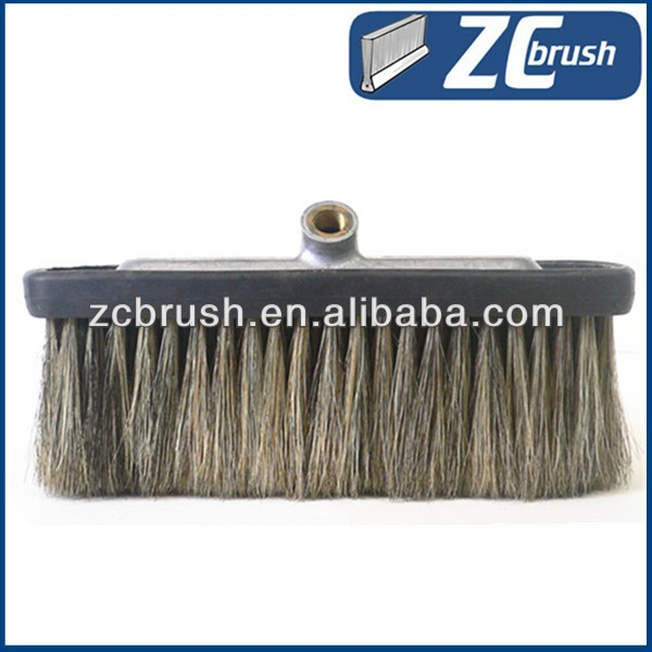 100% natural soft hog bristle and boar hair car cleaning brush