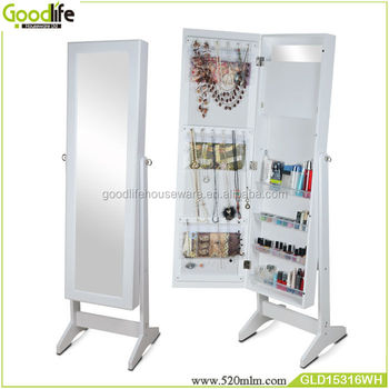 Goodlife 2018 new chinese antique furniture jewelry armoire with inside mirror