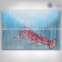 High Quality New Designs Canvas Handmade Lobster Art Oil Painting On Canvas