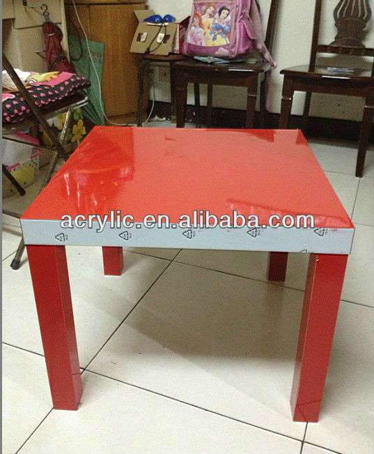 High Quality Colored Acrylic lucite Dinning Table
