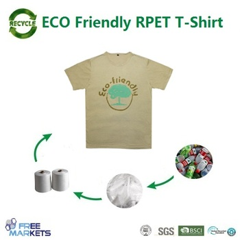 SGS featured 100% recycled PET shirt clothings T-shirts