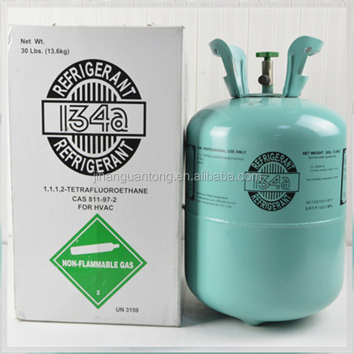 Auto AC bottle refrigerant gas R134A cooling gas in car