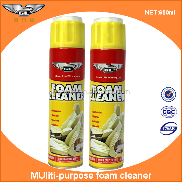 All purpose foam cleaner formula for car cleaning and wash