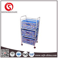new product storage organizer with 3 drawer