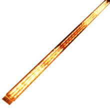 Gold twin tube electric lamp <strong>heater</strong>