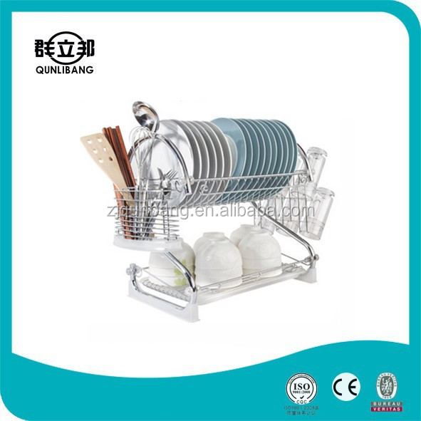 Factory Direct Sell Chrome Plated Drying Rack Iron Wire Dish Drainer