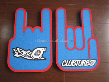 Full side printing promotional Cheering Sponge Foam Hand