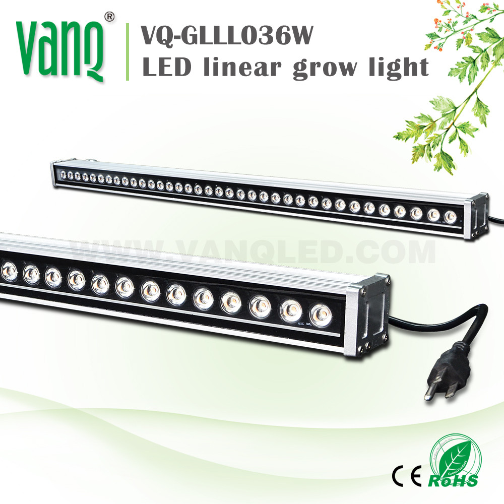 VANQ hydroponic/aquaponics growing systems waterproof led grow light