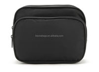 Customize black travel waterproof mens toiletry bag for sale